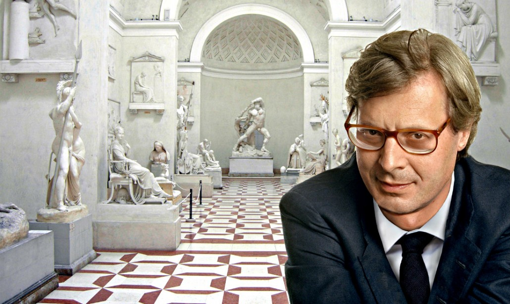sgarbi alla Gypsoteca Museo Canova